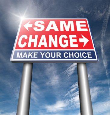 same or change road sign