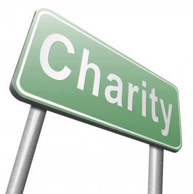 charity road sign, billboard