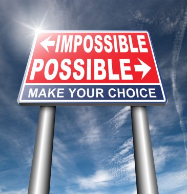 possible or impossible road sign