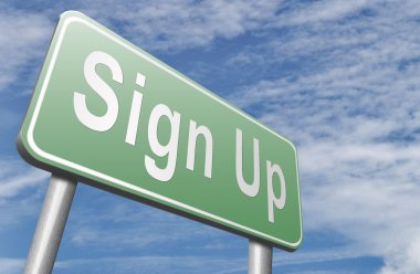 sign up road sign