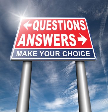 answers and questions road sign