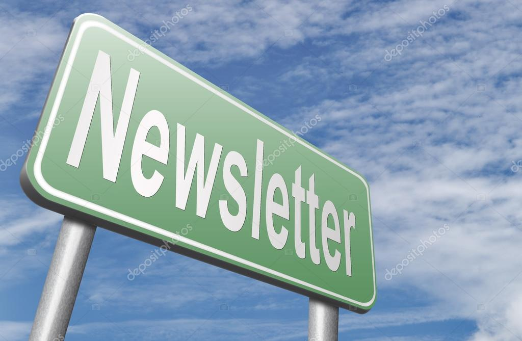 newsletter road sign