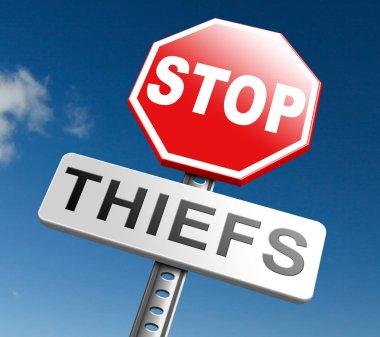 catch thiefs  sign