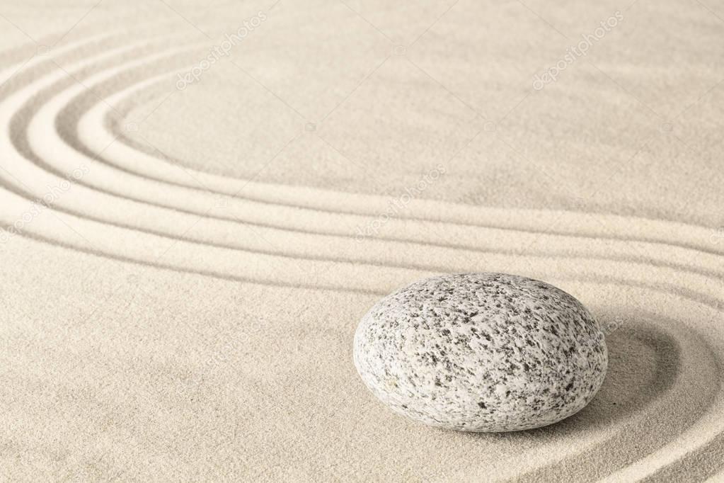 Spa wellness zen stone garden