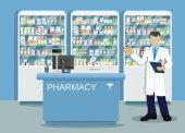 Fotografie Modern interior pharmacy or drugstore