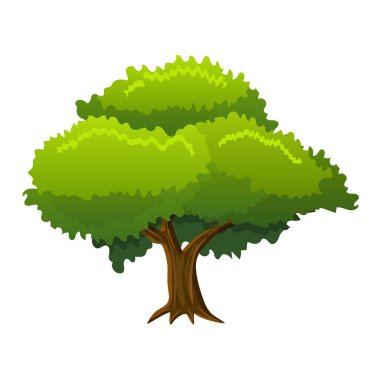abstract tree in flat style