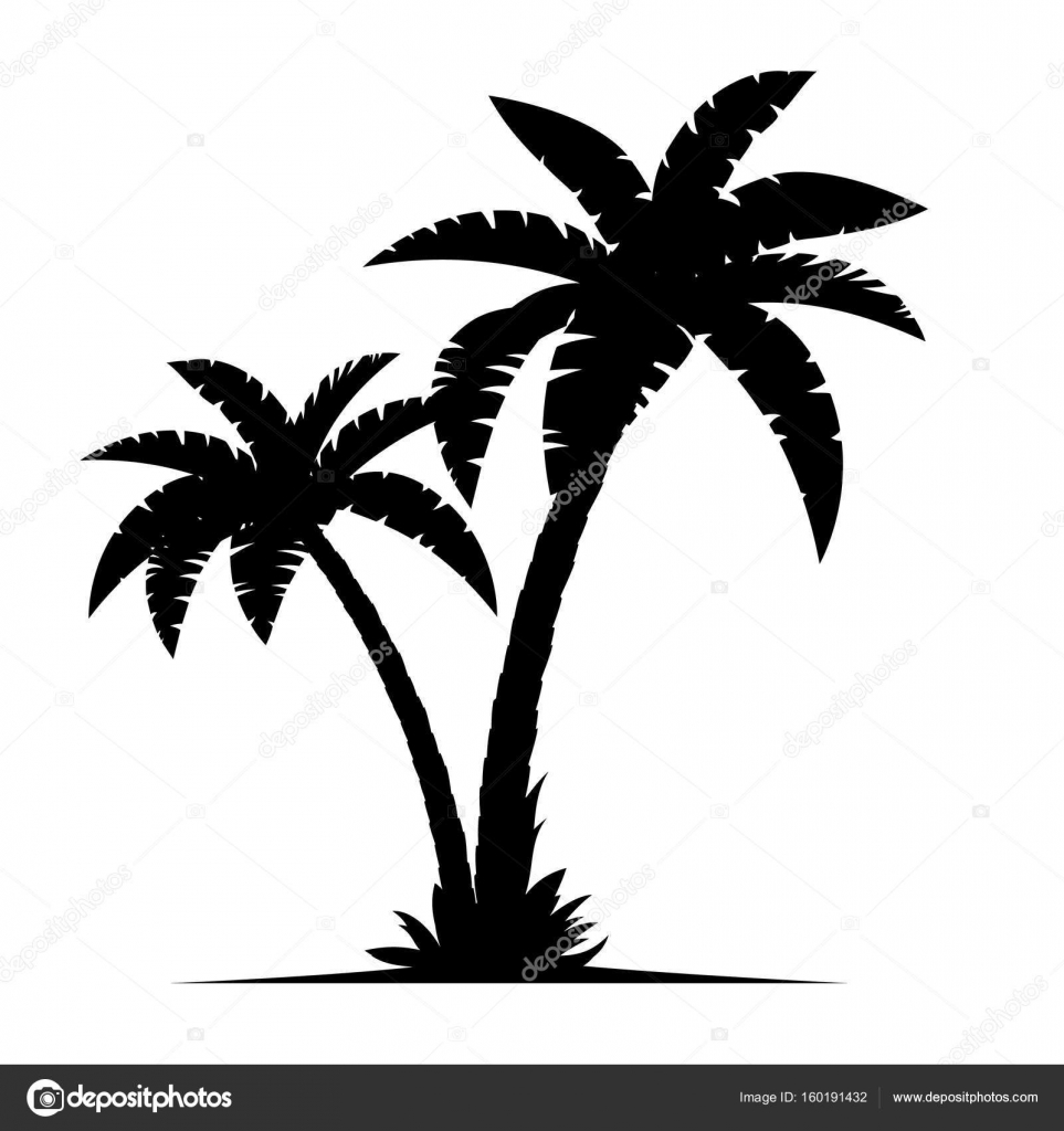 a palm tree silhouettes stock vector drogatnev 160191432 rh depositphotos com palm trees victoria bc palm tree vector file