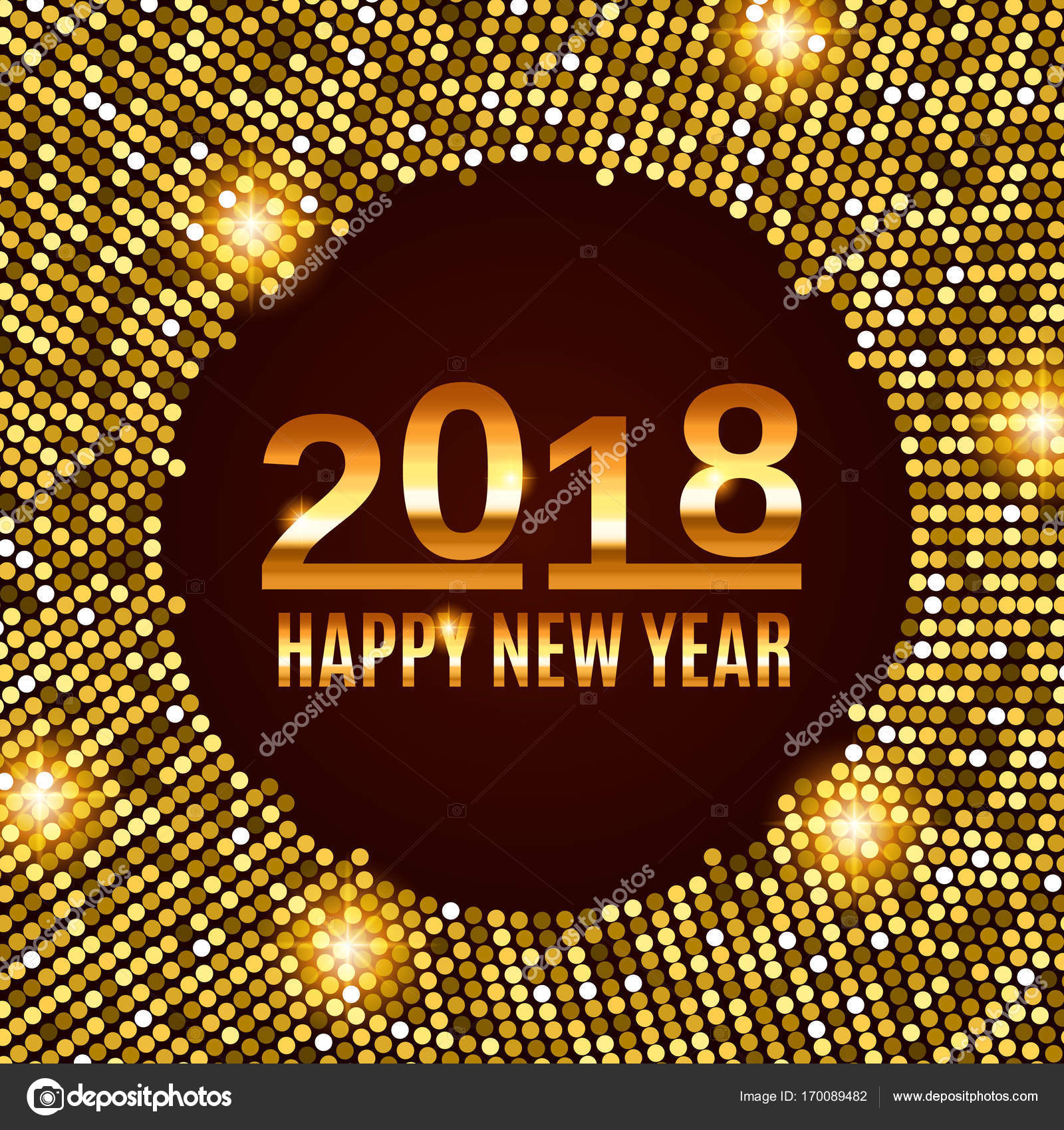 new year 2018 celebration background stock vector