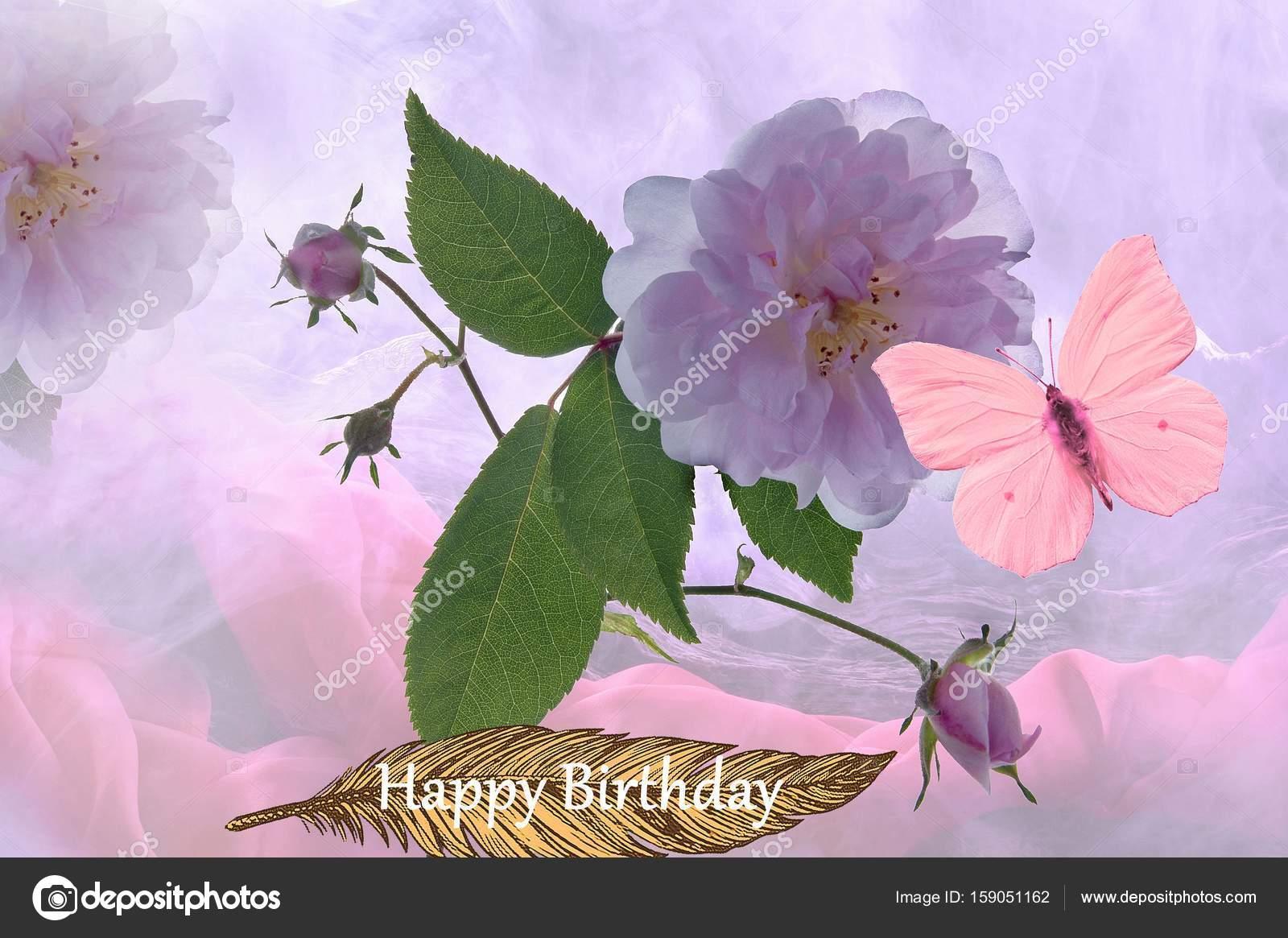 Gelukkige Verjaardag Bloem Stockfoto C Pixerl 159051162