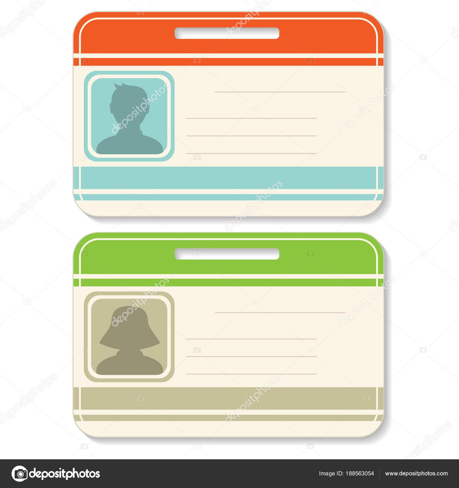 Conjunto de plantillas de tarjeta de identificación — Archivo ...
