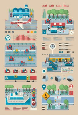 transportation tourism infographic