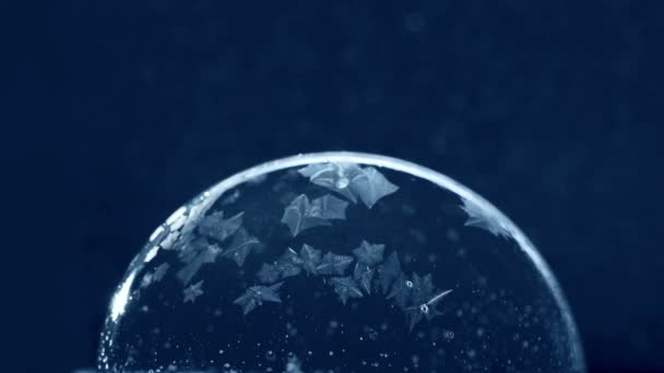 Karácsonyi Snow Globe hópehely fagyasztás