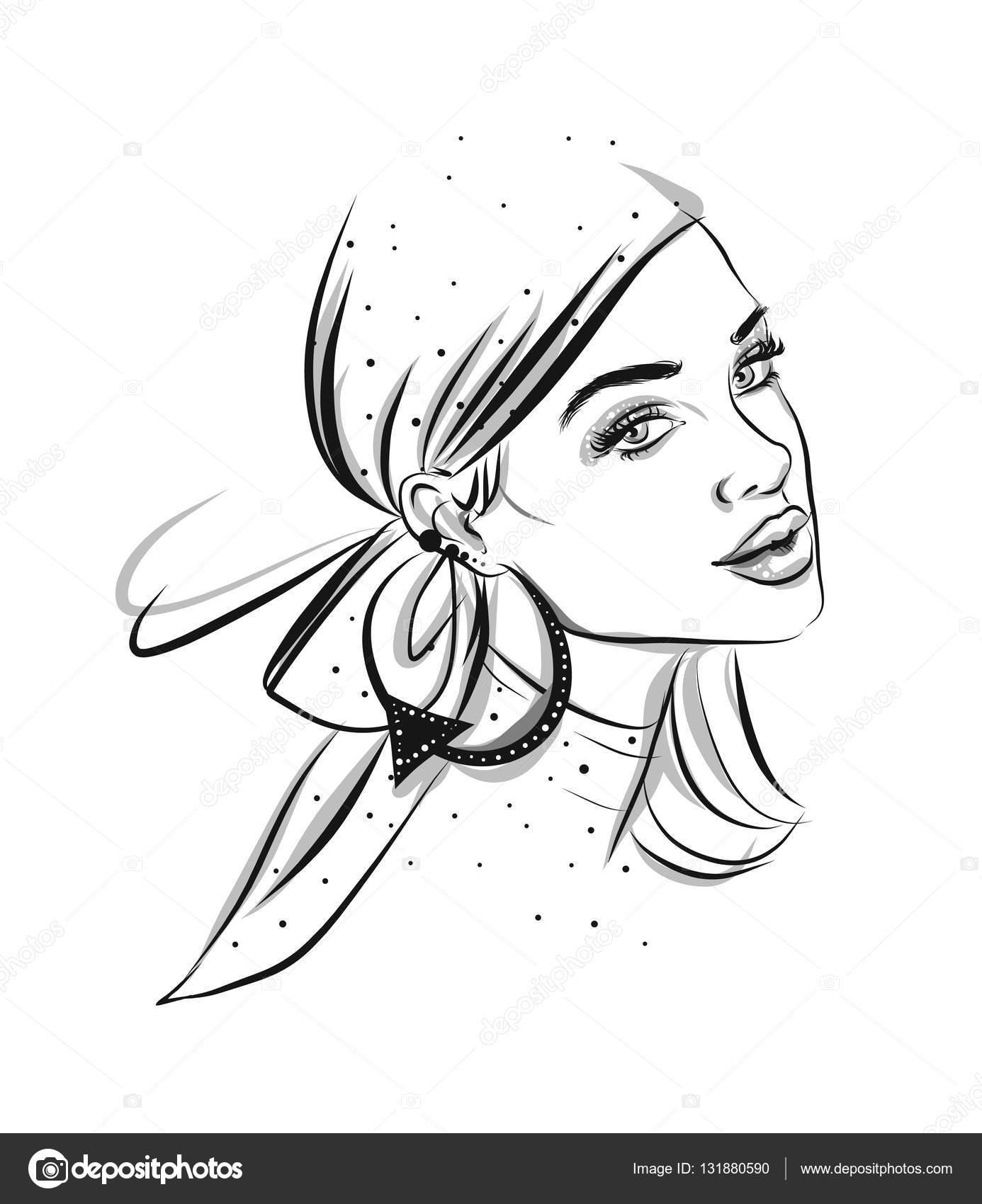 Piękny Wiersz Ilustracja Kobieta Grafika Wektorowa