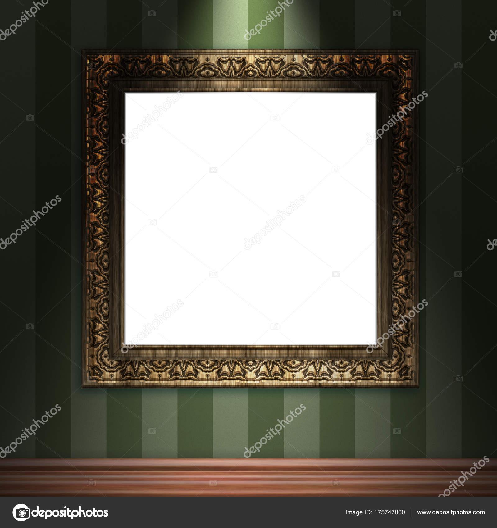 se burlan del marco vintage 3d colgar en la pared — Fotos de Stock ...