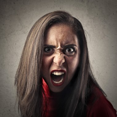 roaring angry woman