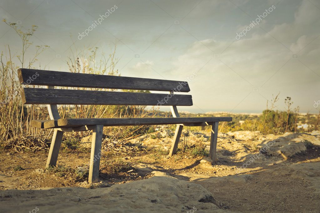 bench in the nature