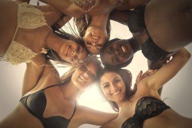 women in bikini