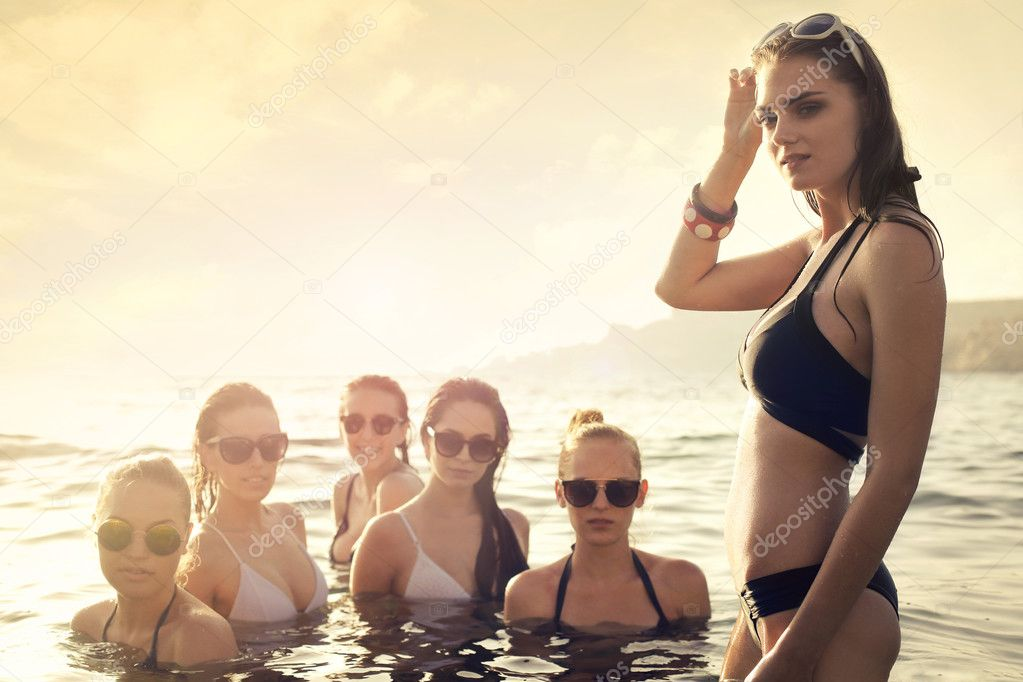 beauties in the sea in bikini