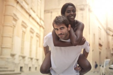 white man with black woman