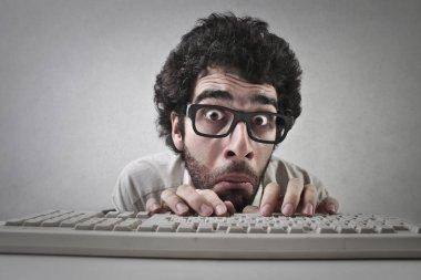 Man with keyboard