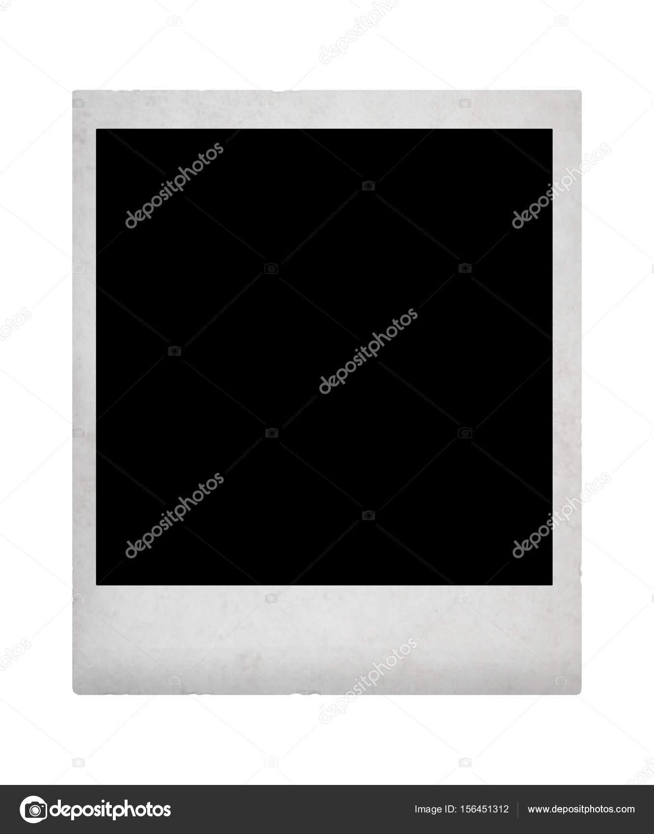 Vintage foto instantánea con cuadro negro en él — Fotos de Stock ...