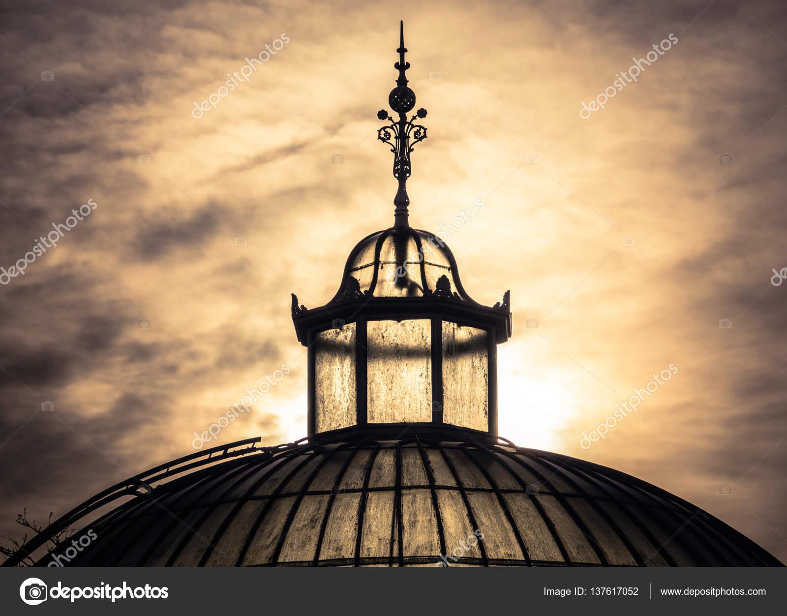 Sonnenuntergang Gewachshaus Im Winter Stockfoto C Mrdoomits 137617052