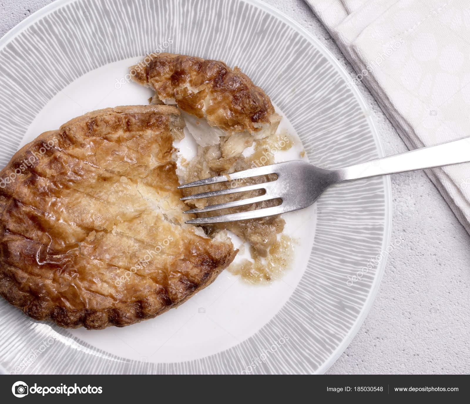 Overhead View Chicken Pie Plate Fork Napkin \u2014 Stock Photo & Overhead View Chicken Pie Plate Fork Napkin \u2014 Stock Photo ...