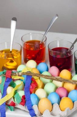 still life of Easter eggs