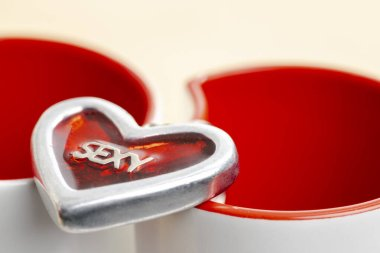 Still life of Valentine's decoration stock vector
