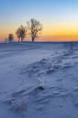 Photo Sunrise near Hight Tatras in winter time, Slovakia