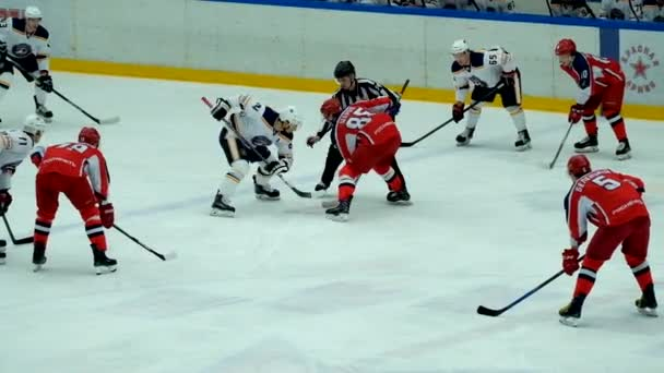 Hokejový zápas v viťaz ledový palác