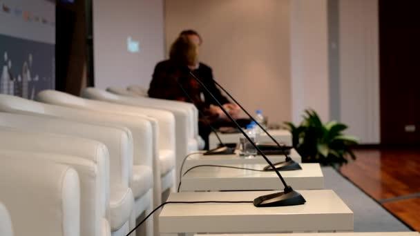 Fotografie Redner bei einer Konferenz