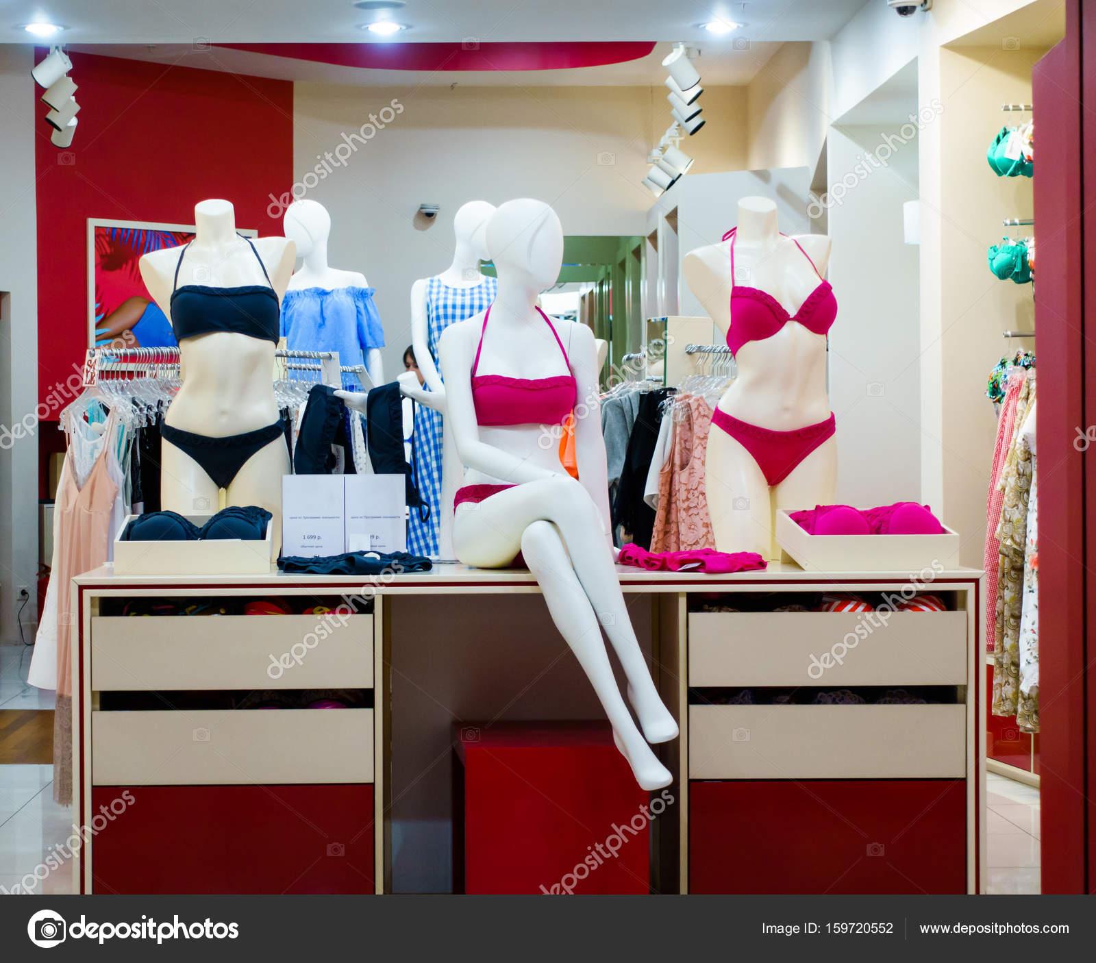 Intérieur de boutique de lingerie moderne — Photo éditoriale ...