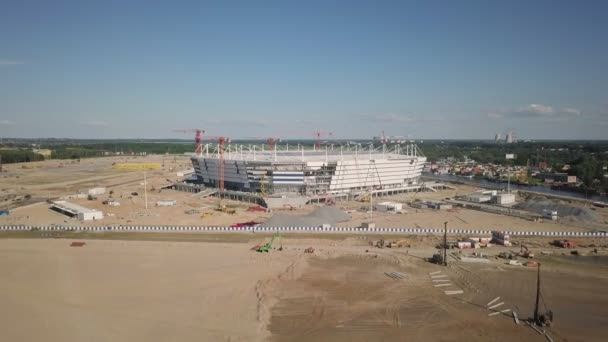 Výstavba fotbalového stadionu v Kaliningrad