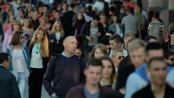 Crowd of people on the street.