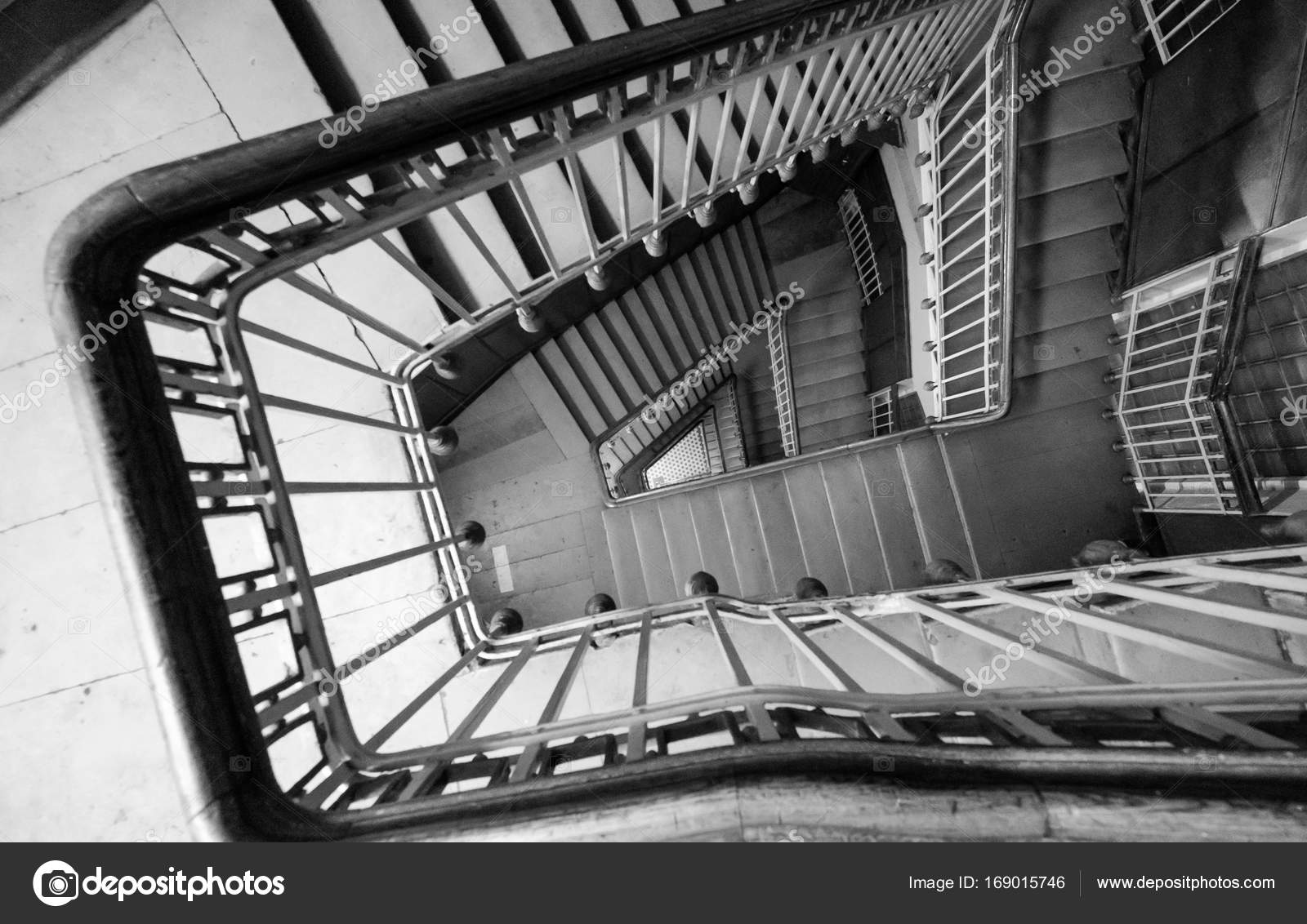 Spiral Staircase On Old House U2014 Stock Photo