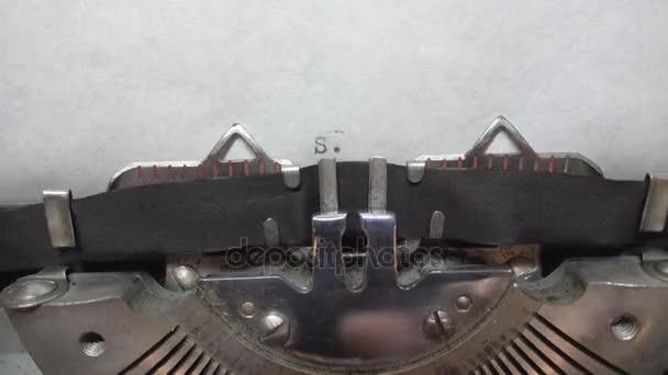 Írógéppel a gépelés szöveg