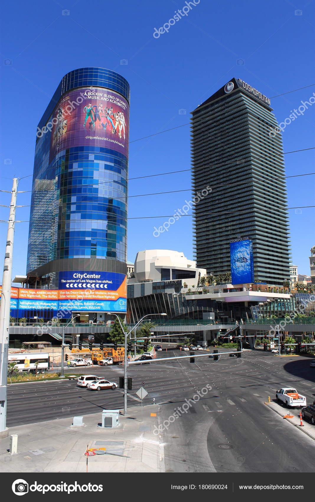 Las Vegas Juli Dem Beruhmten Strip Mit Dem Cosmopolitan Hotel