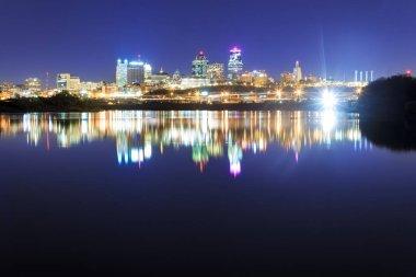 Kansas City Skyline Reflection over the Missouri River