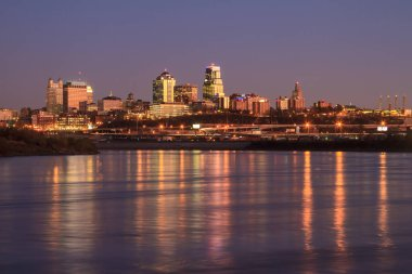 Twilight Skyline of Kansas City