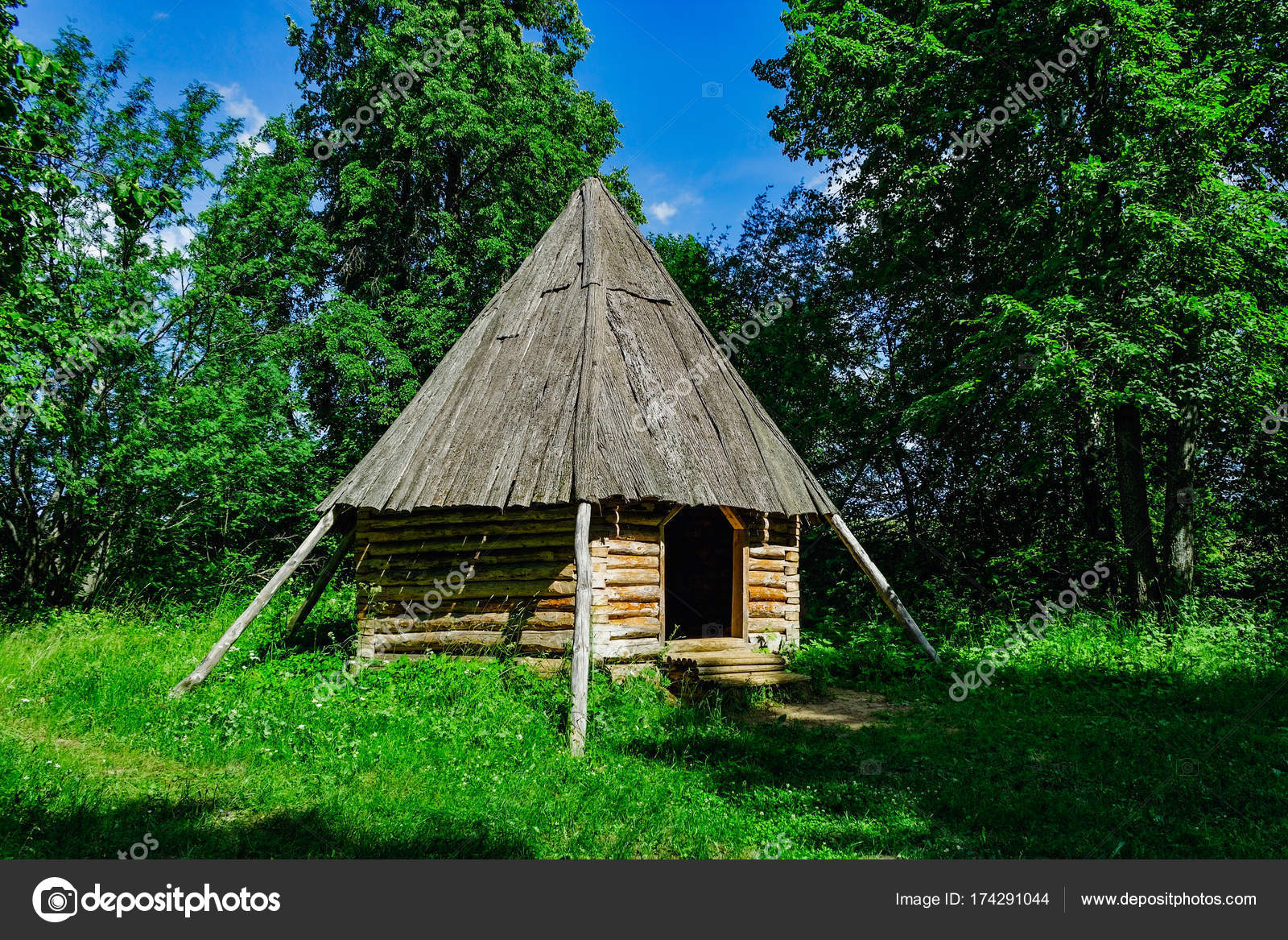 A Small Wooden Hut In The Forest On A Summer Day U2014 Photo By Alx_Yago