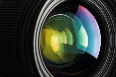 A camera lens with a beautiful close-up optical unit as a substrate.