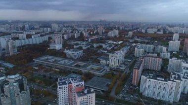 Ricognizione aerea citt di megalopoli kiev akademgorodok for Piani di costruzione di edifici residenziali in metallo