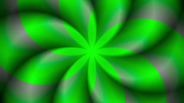 Green abstract shape with rotation effect animation