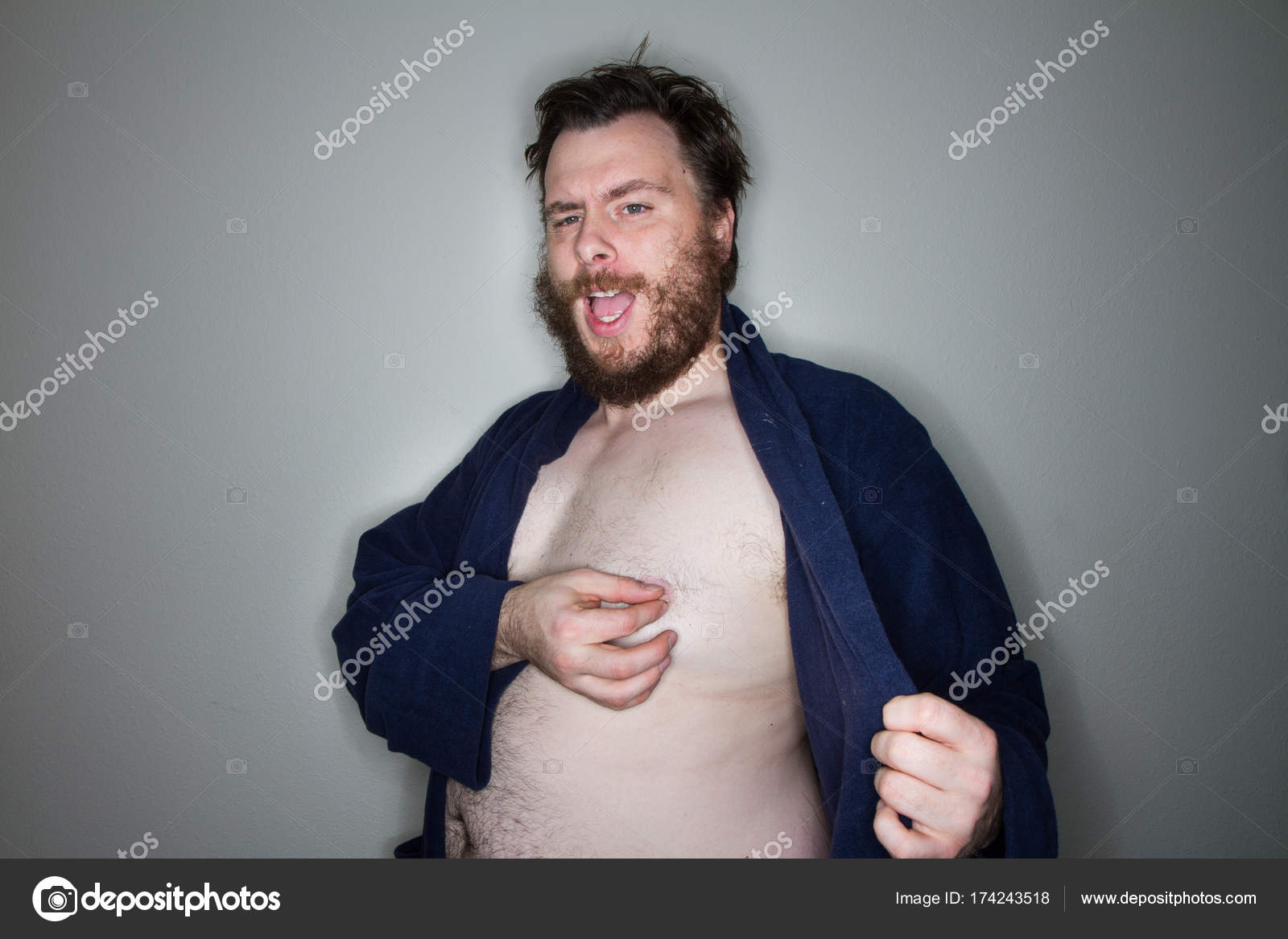 Naked sexy fat man