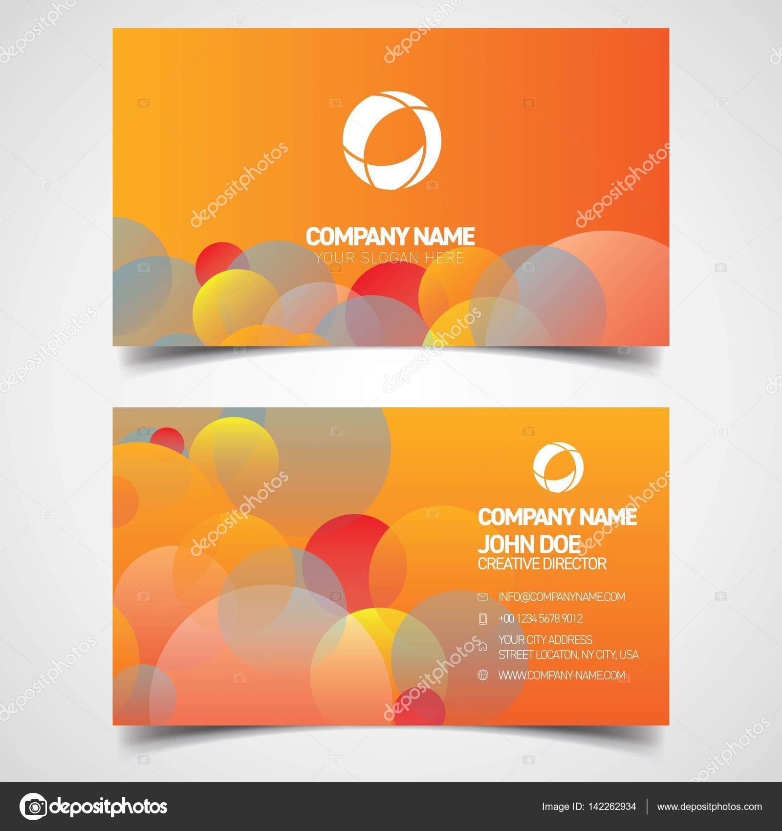 john doe business card orange stock vector a prodesign481 gmail