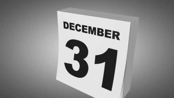 Naptár változás dátuma, január 1, újév.