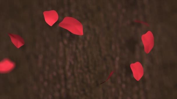Red rose petals, flower, concept.