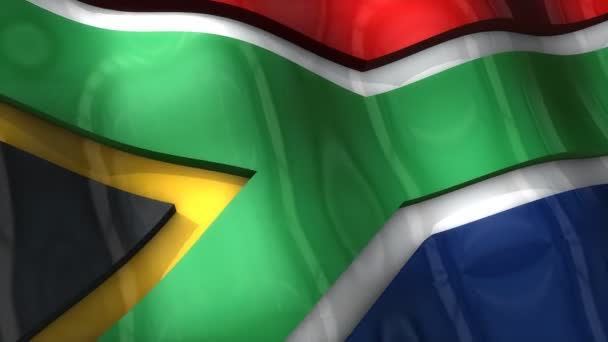 3D flag, South Africa, waving, ripple, Africa, Middle East.