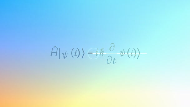 Mathematical equation background, Schrodinger equation.